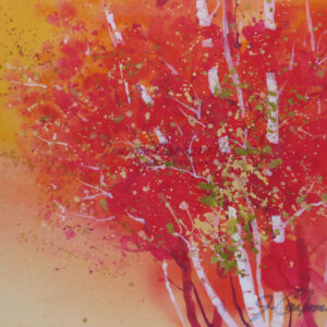 Autumn Orange Original Watercolor Painting