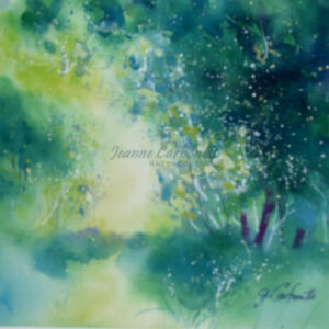 Fresh Summer Morning Original Watercolor Painting