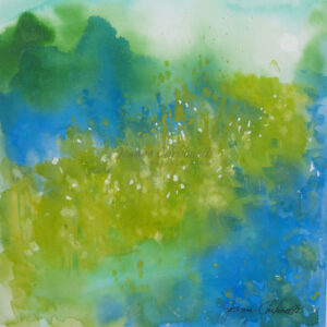 Giverny in Yellow Original Watercolor Painting