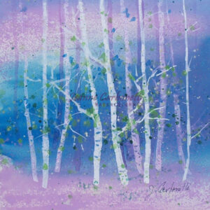 Lavender Morning Original Watercolor Painting