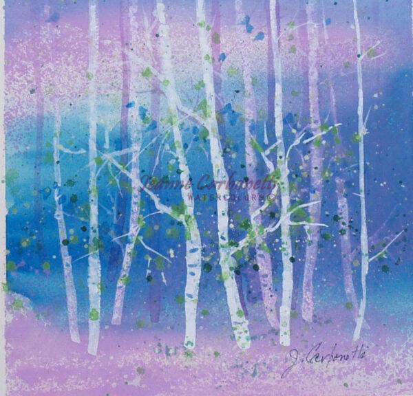 Lavender Morning Original Watercolor Painting