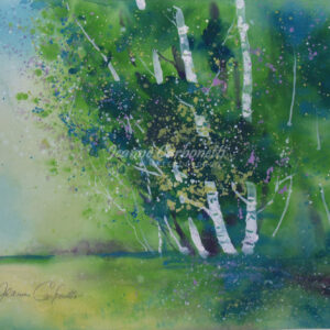 Occum Pond, Summer Original Watercolor Painting