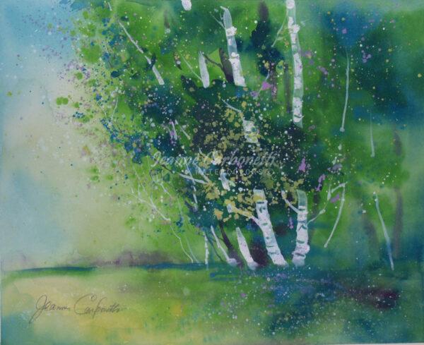 Occum Pond, Summer Original Watercolor Painting