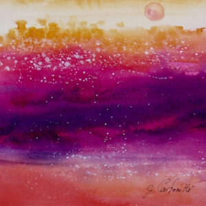Sante Fe Sunset Original Watercolor Painting