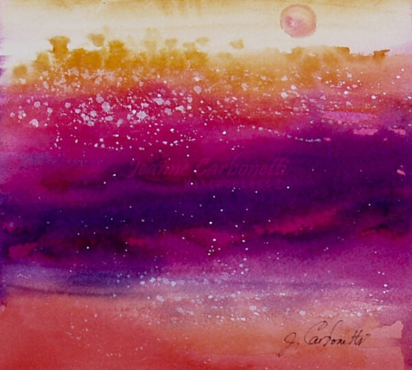 Sante Fe Sunset Original Watercolor Painting