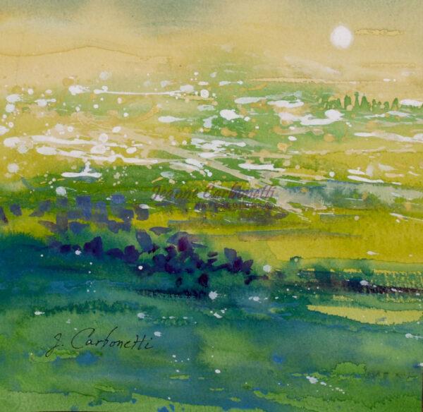 Summer Meadow Original Watercolor Painting
