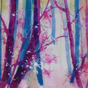 Woods in Spring Original Watercolor Painting