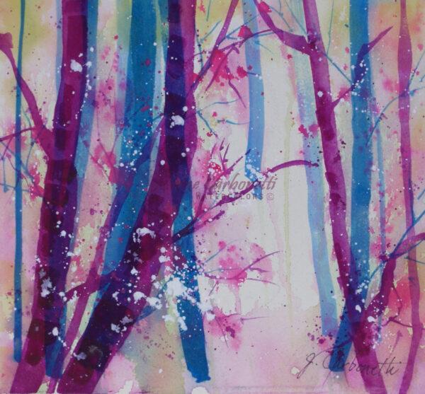 Woods in Spring Original Watercolor Painting