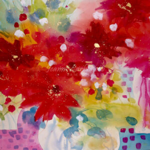 Autumn Riot, Still Life Original Watercolor Painting