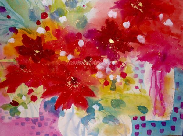 Autumn Riot, Still Life Original Watercolor Painting
