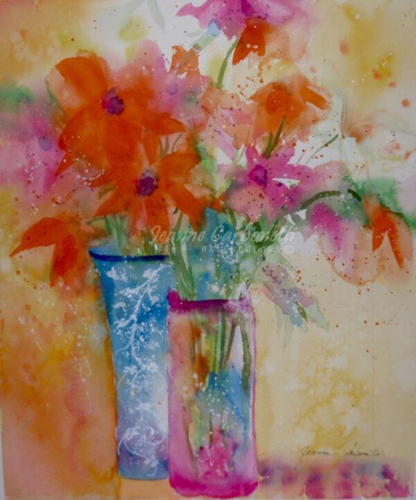 Daylilies Original Watercolor Painting