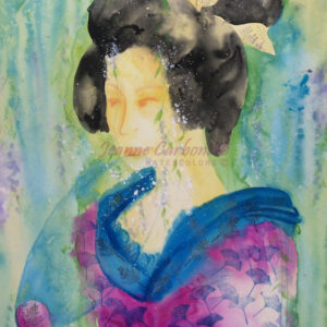 Geisha Original Watercolor Painting