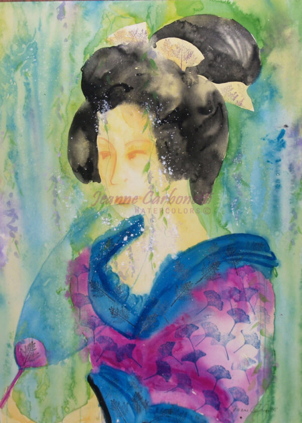 Geisha Original Watercolor Painting