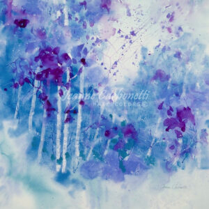Lavender Mist Presentation Sized Original Watercolor Painting