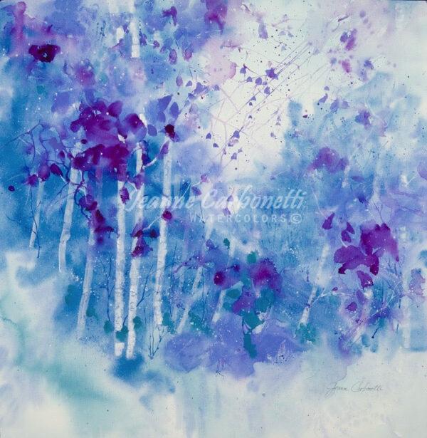 Lavender Mist Presentation Sized Original Watercolor Painting