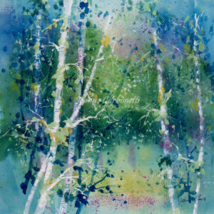 Summer Dawn Presentation Sized Original Watercolor Painting