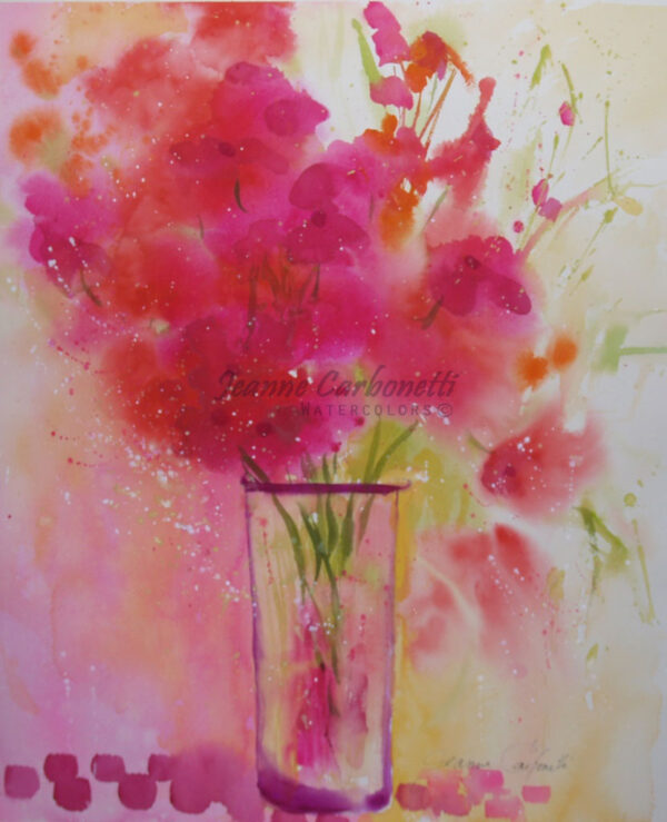 Summer Spray Original Watercolor Painting